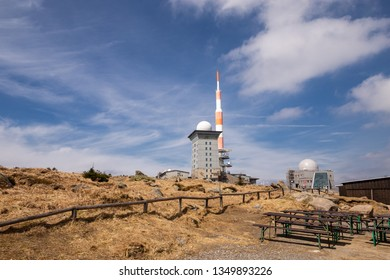 Antenna from the mountain Brocken in the National Park resin
