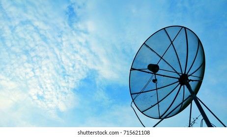 antenna network television on blue sky