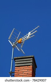 Antenna On The Roof over blue sky
