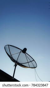 Antenna or satellite for tv connection which it was install on roof.