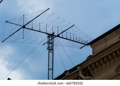 Antenna Shortwave On Sky Stock Photo (Edit Now) 665783311 - Shutterstock