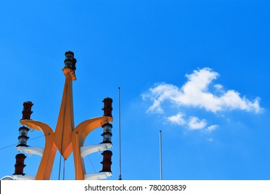 Antenna and signal tower of ferry