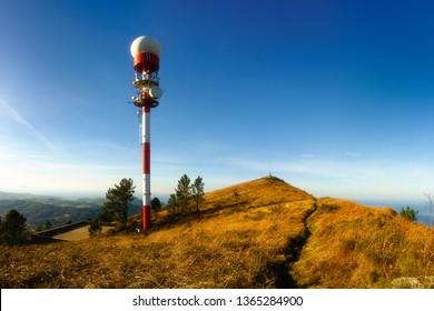 antenna and telecommunications tower on Jata mountain