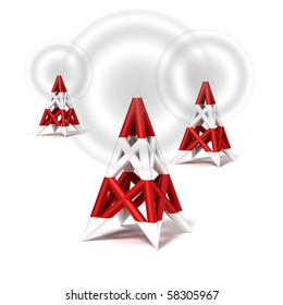 antenna wireless network icon on white background