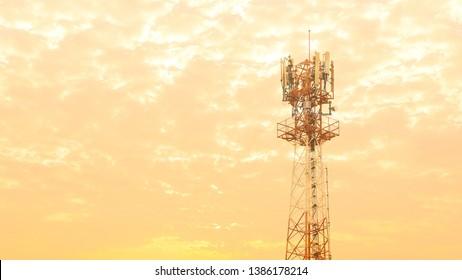 Antennas of communication equipment and receivers of communication, orange sky