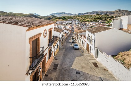 Antequera, Spain - June 18, 2018: White town in the province of Andalusia, Antequera, Spain.