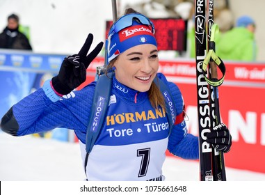 Anterselva/Antholz, Italy - JANUARY 20, 2018: Dorothea Wierer of Italy competes in the pursuit at the BMW IBU World Cup Biathlon 6