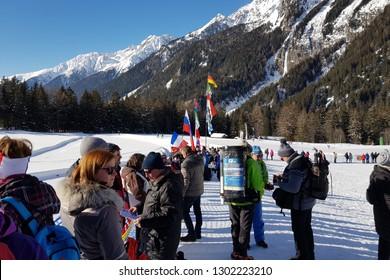 Anterselva/Antholz, Italy. JANUARY 25, 2019. Scenery at BMW IBU WORLDCUP BIATHLON.