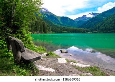The Antholzer See (Italian: Lago di Anterselva) a little lake in South Tyrol, Italy