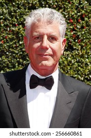 Anthony Bourdain at the 2014 Creative Arts Emmy Awards held at the Nokia Theatre L.A. Live in Los Angeles, United States, 16/08/14.