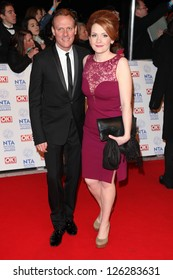 Anthony Cotton and Jenny McAlpine arriving for the National Television Awards 2013, at the O2 Arena, London. 23/01/2013 Picture by: Alexandra Glen