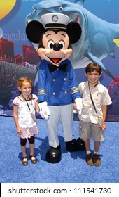 """Anthony De Marco and his sister at the Opening of Disneyland's """"Finding Nemo Submarine Voyage"""". Disneyland, Anaheim, CA. 06-10-07"""