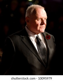 Anthony Hopkins at the european premiere of 'Beowulf' at the Vue cinema on November 11, 2007, London, England.