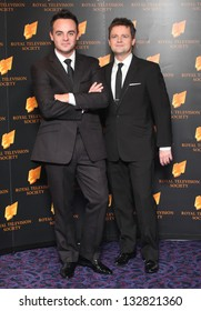 Anthony McPartlin and Declan Donnelly (Ant and Dec) arriving for the RTS Awards 2013, at The Grosvenor House Hotel, London. 19/03/2013 Picture by: Alexandra Glen