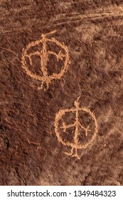 Anthropomorphic figure petroglyph in Nine Mile Canyon, Utah