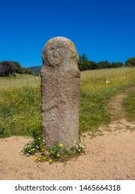 Anthropomorphic menhir at Filitosa, Corsica