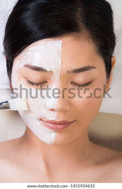 Anti Aging By Applying Brush Natural Stock Photo Edit Now 1451924633