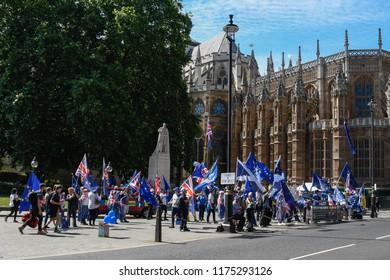 Anti Brexit Protests in London, United KIngdom, June 11, 2018