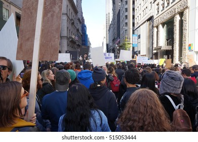 Anti Donald Trump Election Protest in Midtown Manhattan on Saturday November 12, 2016
