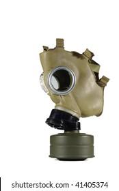 anti gas mask on white background