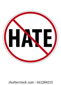 Anti Hate sign