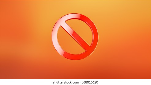 Anti Red 3d Icon