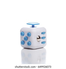 Anti stress and relaxation fidgets, cube for exhausted people