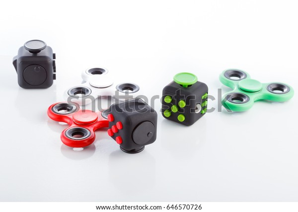 later sold worldwide on feet images of Anti Stress Relaxation Fidgets Cube Spinner | Education ...