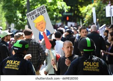 Anti Trump protest   Portland OR   June 4th 2017