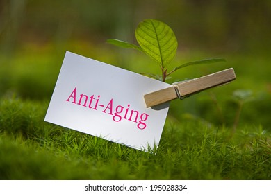 Anti-Aging on paper with a seedling