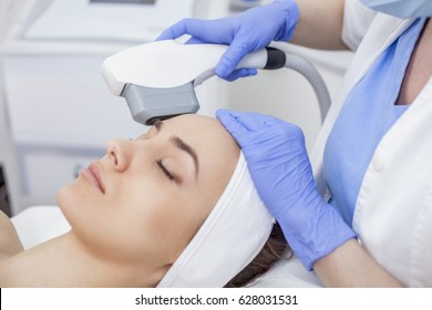 Anti-aging treatment,  laser process, photo skin therapy