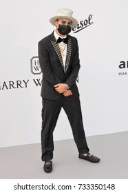 ANTIBES, FR - May 25, 2017: Alec Monopoly at the 24th amfAR Gala Cannes at the Hotel du Cap-Eden-Roc, Antibes