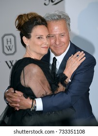 ANTIBES, FR - May 25, 2017: Dustin Hoffman & Lisa Hoffman at the 24th amfAR Gala Cannes at the Hotel du Cap-Eden-Roc, Antibes