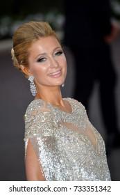 ANTIBES, FR - May 25, 2017: Paris Hilton at the 24th amfAR Gala Cannes at the Hotel du Cap-Eden-Roc, Antibes