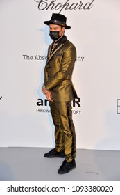 ANTIBES, FRANCE. May 17, 2018: Alec Monopoly at the 25th amfAR Gala Cannes event at the Hotel du Cap, Antibes. Part of the 71st Festival de Cannes
