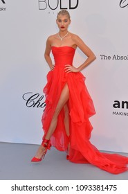 ANTIBES, FRANCE. May 17, 2018: Elsa Hosk at the 25th amfAR Gala Cannes event at the Hotel du Cap, Antibes. Part of the 71st Festival de Cannes