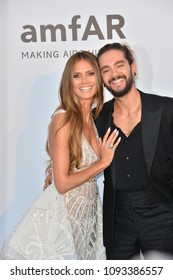 ANTIBES, FRANCE. May 17, 2018: Heidi Klum & Tom Kaulitz at the 25th amfAR Gala Cannes event at the Hotel du Cap, Antibes. Part of the 71st Festival de Cannes