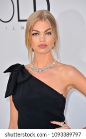 ANTIBES, FRANCE. May 17, 2018: Daphne Groeneveld at the 25th amfAR Gala Cannes event at the Hotel du Cap, Antibes. Part of the 71st Festival de Cannes