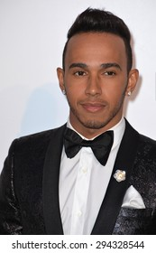ANTIBES, FRANCE - MAY 21, 2015: F1 driver Lewis Hamilton at the 2015 amfAR Cinema Against AIDS gala at the Hotel du Cap d'Antibes, as part of the 68th Festival de Cannes.