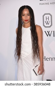 ANTIBES, FRANCE - MAY 21, 2015: Zoe Kravitz at the 2015 amfAR Cinema Against AIDS gala at the Hotel du Cap d'Antibes, as part of the 68th Festival de Cannes.