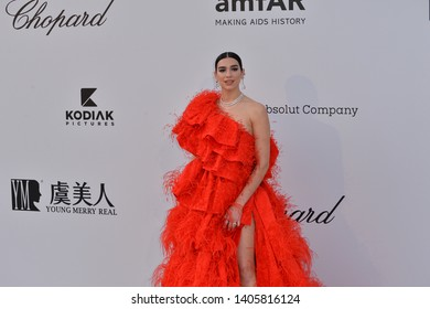 ANTIBES, FRANCE. May 23, 2019: Dua Lipa at amfAR's Gala Cannes event at the Hotel du Cap d'Antibes.