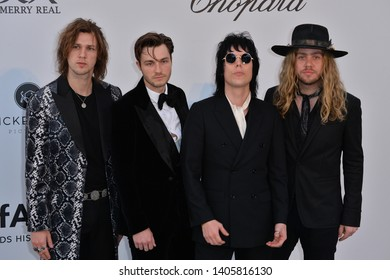 ANTIBES, FRANCE. May 23, 2019: The Struts at amfAR's Gala Cannes event at the Hotel du Cap d'Antibes.