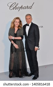 ANTIBES, FRANCE. May 23, 2019: Christoph Waltz & Caroline Scheufele at amfAR's Gala Cannes event at the Hotel du Cap d'Antibes.Picture: Paul Smith / Featureflash