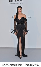ANTIBES, FRANCE. May 23, 2019: Adriana Lima  at amfAR's Gala Cannes event at the Hotel du Cap d'Antibes.