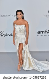 ANTIBES, FRANCE. May 23, 2019: Eva Longoria at amfAR's Gala Cannes event at the Hotel du Cap d'Antibes.