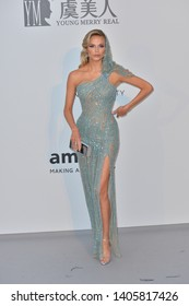 ANTIBES, FRANCE. May 23, 2019: Natasha Poly  at amfAR's Gala Cannes event at the Hotel du Cap d'Antibes.