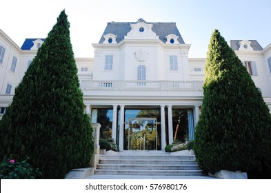 ANTIBES, FRANCE - NOVEMBER 21, 2014: Hotel du Cap-Eden-Roc. It is a resort hotel in Antibes on the French Riviera. Built originally as a private mansion, it opened as a hotel in 1870.