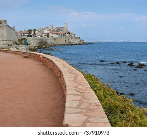 Antibes Promenade,  Old Town, Museum and Wall fortifications, Cote d'Azur,  Provence, France
