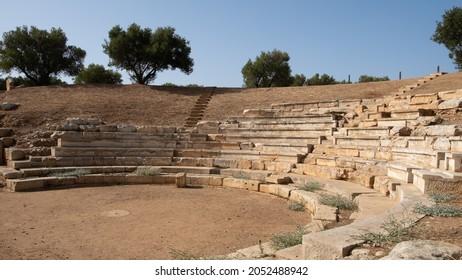 antic amphitheater of Aptera, in summer