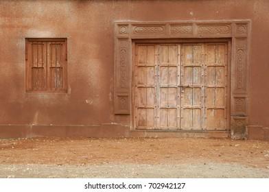 Antic Wood Door